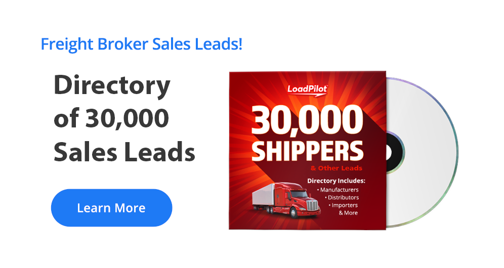 Giant Directory of U.S. Shippers for Freight Brokers - 30,000 Sales Leads